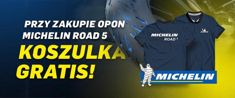 Przy zakupie opon Michelin Road 5 otrzymasz koszulkę!